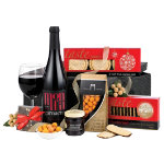 Celebration Gift Basket with Red Wine Hamper