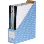 Fellowes Magazine File cardboard Blue White Polkadot 316 x 263 x 81 cm