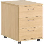 Dams International Mobile Pedestal HOP3O Oak 600 x 410 x 600 mm