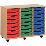18 Tray Storage Unit MSU3 18 GN Beech Green