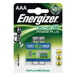 Energizer Battery Rechargeables Power Plus AAA 2 Pack