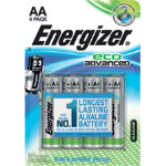 Energizer Batteries Eco Advanced AA Pack 4