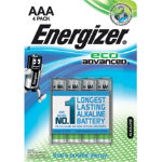 Energizer Batteries Eco Advanced AAA Pack 4