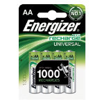 Energizer General Purpose Battery Rechargeables AA AA Pack 4 Pack 4