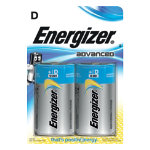 Energizer Batteries Eco Advanced D Pack 2