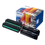 Samsung CLT P504C Original Toner Cartridge Black 3 Colours Pack 4