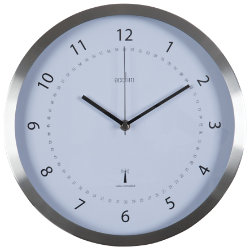 Acctim Kaava Radio Controlled Wall Clock 300mm  Brushed steel