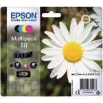 Epson 18 Original Ink Cartridge C13T18064012 Black 3 Colours Pack 4