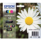 Epson 18 Original Ink Cartridge C13T18064012 Black 3 Colours Multipack