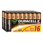 Duracell Plus Alkaline 15V AAA Batteries Pack of 16