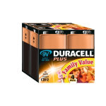 Duracell Plus MN1604 Alkaline 9V Battery Pack of 4