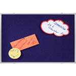 Franken Notice Board X traLine Blue 600 x 900 mm