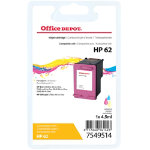 Office Depot Compatible HP 62 Ink Cartridge C2P06AE 3 Colours
