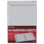 Twinlock Variform V4 11 3 4 X 8 1 4 4 Cash Column Sheets