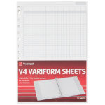 Twinlock Variform V4 11 3 4 X 8 1 4 7 Cash Column Sheets