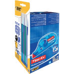 BIC 10 Correctors with 8 Cristal Ballpoint Pens Pocket Mouse Blue
