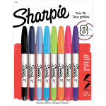 Sharpie Permanent marker Twin tips Bullet 14 mm Assorted Pack 8