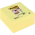 Post it Z Sticky Notes Super Sticky Yellow Ruled 101 x 101 mm 70gsm Pack 5