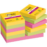 Post it Super Sticky Notes Rio Assorted 476 x 476 mm 70gsm 12 pieces of 90 sheets