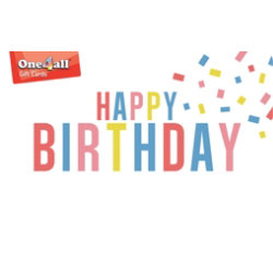 ONE4ALL Gift Card Happy Birthday £250