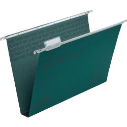 Rexel Crystalfile Classic Suspension Files Manilla 30mm Capacity Foolscap Green Box 50