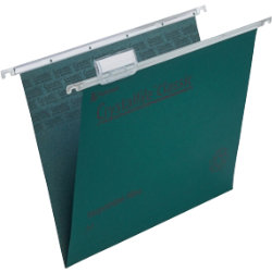 Rexel Crystalfile Classic Suspension Files Manilla V Base 15mm Capacity A4 Green Box 50