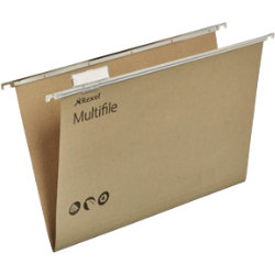 Rexel Multifile Suspension Files Foolscap Green Box 50