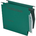 Rexel Crystalfile Classic Lateral Suspension Files Manilla V Base 15mm Capacity W275xH280mm Green Box 50