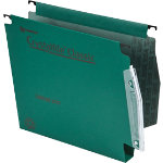 Rexel Crystalfile Classic Lateral Suspension Files Manilla 30mm Capacity W275xh280mm Green Box 50