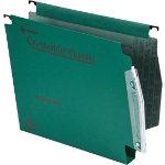 Rexel Crystalfile Classic Lateral Suspension Files Manilla 30mm Capacity W275xH280mm Green Box 50