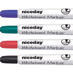 Niceday Whiteboard Marker WCM1 5 Chisel Black Blue Red Green Pack 4