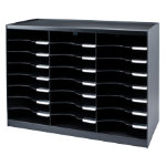 Fastpaper 24 Compartment Literature Organiser Black