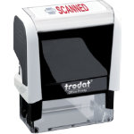 Trodat Self Inking Scanned Stamp Black White