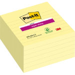 Post it Super Sticky Notes Yellow Ruled 101 x 101 mm 70gsm 6 pieces of 90 sheets