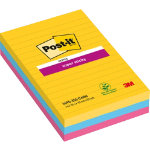 Post it Super Sticky Notes Rio Assorted Ruled 152 x 101 mm 70gsm 3 pieces of 90 sheets
