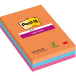 Post it Super Sticky Notes Bangkok Assorted Ruled 152 x 101 mm 70gsm 3 pieces of 90 sheets