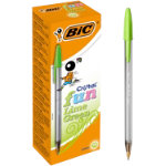 BIC Pen Cristal Green Pack 20