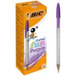 BIC Pen Cristal 06 mm Violet Pack 20