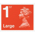 Royal Mail First Class Pack of 4 Large Letter Stamps