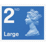 Royal Mail Second Class Pack of 4 Large Letter Stamps
