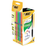 12 pack Bic Atlantis Retractable Ballpoint Pens Black  5 Assorted Bic Grip Highlighters