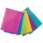 Leitz WOW Wallet Folder with Press Buttons Assorted Colours A4