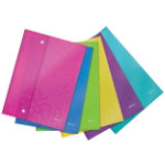 Leitz WOW Side Opening Pocket Assorted Colours A4