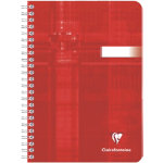 Clairefontaine Notebook Wirebound Red Ruled A5 21 x 148 cm