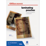 Office Depot Laminating Pouches A4 Transparent 350 Microns