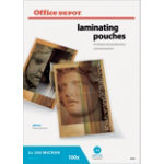 Office Depot Laminating Pouches A4 Transparent 500 Microns