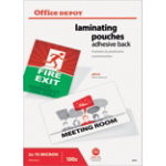 Office Depot Laminating Pouches A4 Transparent 2 x 75 150  microns