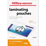 Office Depot Laminating Pouches Badge format Transparent 250 Microns