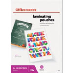 Office Depot Laminating Pouches A2 Transparent 2 x 100 200  microns