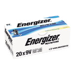 Energizer Batteries Alkaline Advanced 9V Alkaline Eco Advanced 9 V 20 Pack